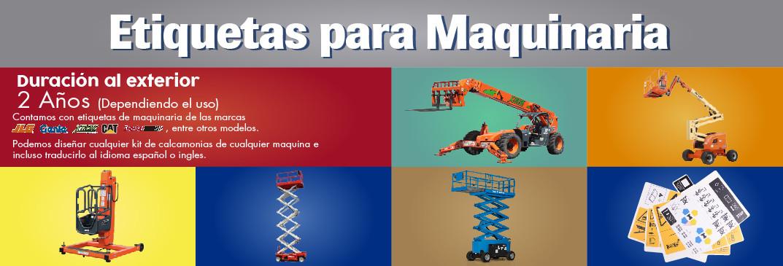 ETIQUETAS PARA MAQUINAS